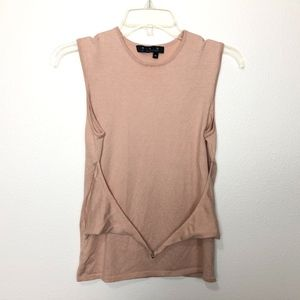 MAG by Magaschoni Knit Belted Tank Top